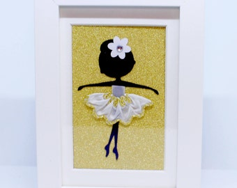 Personalised | Ballerina | Small Frame | Shadow Box | Handmade | Maggie Makes | Frame | Picture | Gifts |