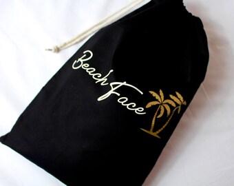 Travel Bag | Beach Face | Shoe Bag | Maggie Makes | Beach Bag | Travel Bag | Holiday Bag |
