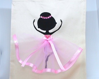 Personalised | Canvas Bag | Bag for Life | Cotton Bag | Ballerina | Ballet Dancer | Handmade | Maggie Makes | Gift |