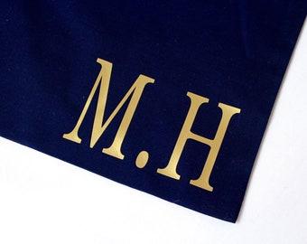 Travel Bag | Navy Personalised Travel Bag | Shoe Bag | Maggie Makes | Beach Bag | Travel Bag | Holiday Bag |