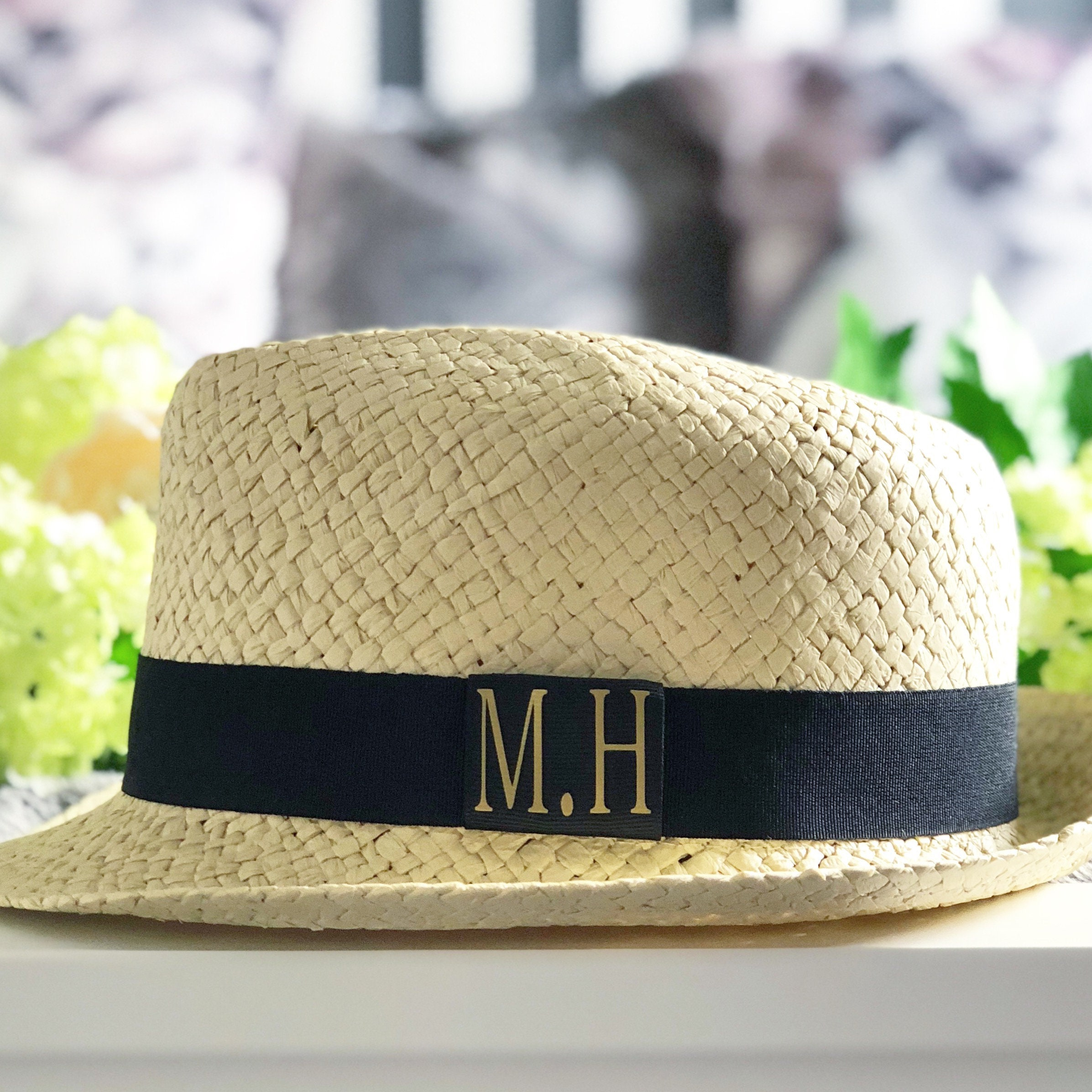 Personalised Straw Trilby Hat  4b7141a7ba2