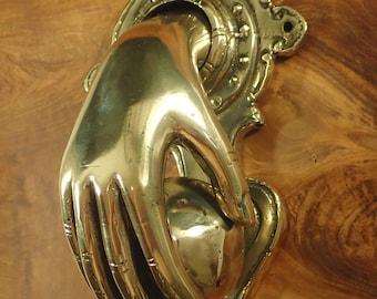 Bronze door knocker fist & ball door knocker