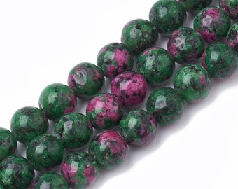 28 Ct Stunning Natural Cotted Ruby Zoisite Rough Fancy 1 Strand Beads 7X6To9X7 mm Ruby Zoisite Fancy Briolettes Gemstone US-538