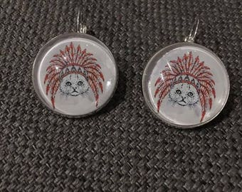 """""""Indian cat"""" earrings"""