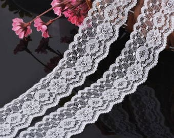2 meters grade 3.5 cm wide white lace