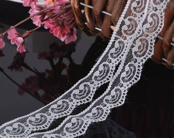 Grade 2 cm wide white lace 3 meters