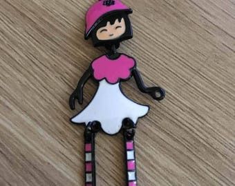 60x27mm articulated doll charm
