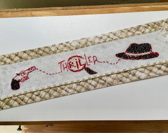 Embroidered bookmark theme fleece