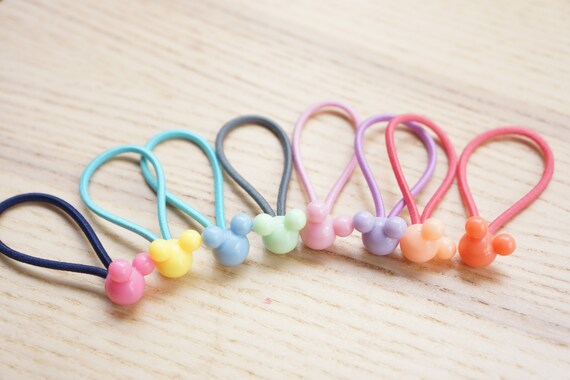 Set of 8 Little Cute Mickey Beaded Hair Ties  39f3d66110d