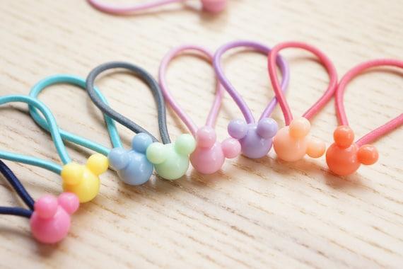 Set of 8 Little Cute Mickey Beaded Hair Ties  480906b7cf7