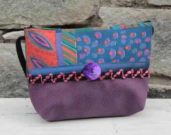 Le Chat-Marré purple printed shoulder bag