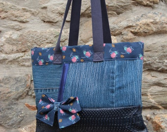 Cabas jeans and liberty bag