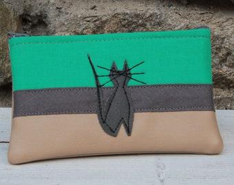 The Cat-Marré green cat wallet