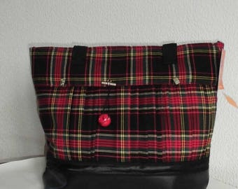 Great bag for the cat - Fun tartan pleated kilt way