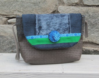 Le Chat-Marré grey/blue shoulder bag