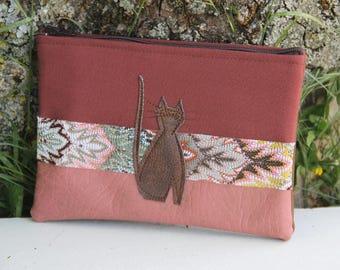 Old Pink/Brown Textile Pocket