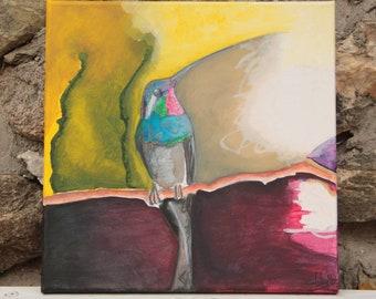 "Painting ""The Twilight Bird"""