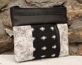 Le Chat-Marré Blanc, Grey and Black shoulder bag