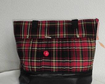 Great bag for the cat - Fun tartan pleated kilt way