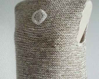 Sweater short tank top Le Chat-Marré beige / ecru chiné