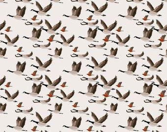Fabric design, migratory birds