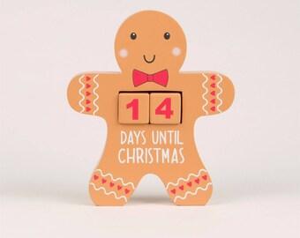 gingerbread man ADVENT CALENDAR BLOCK, advent calendar, christmas