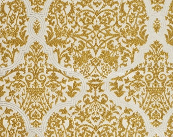 Ashley Wilde gold embroidered fabric