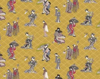 Fabric, linen, geisha, Japan, Linen, fabric