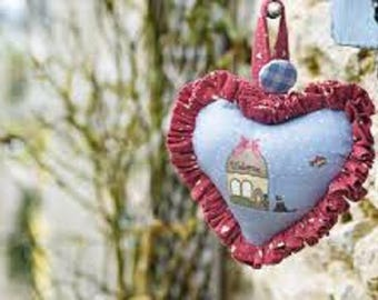 Heart fabric, DOG, Country Chic Cottage 3