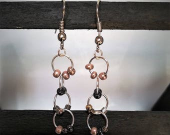 Rings and beads earrings