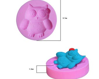 polymer clay OWL silicone mold