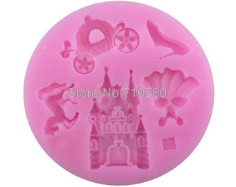 Castle dress shoe for polymer clay silicone mold