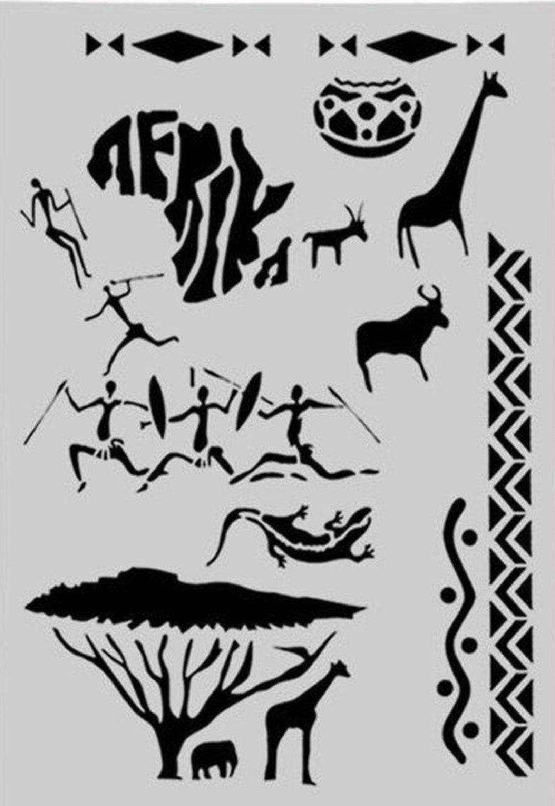 Afrika PLASTIC POCHOIR 30-21cm
