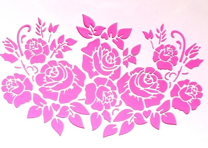 PLASTIC POCHOIR 30-21cm 12 roses