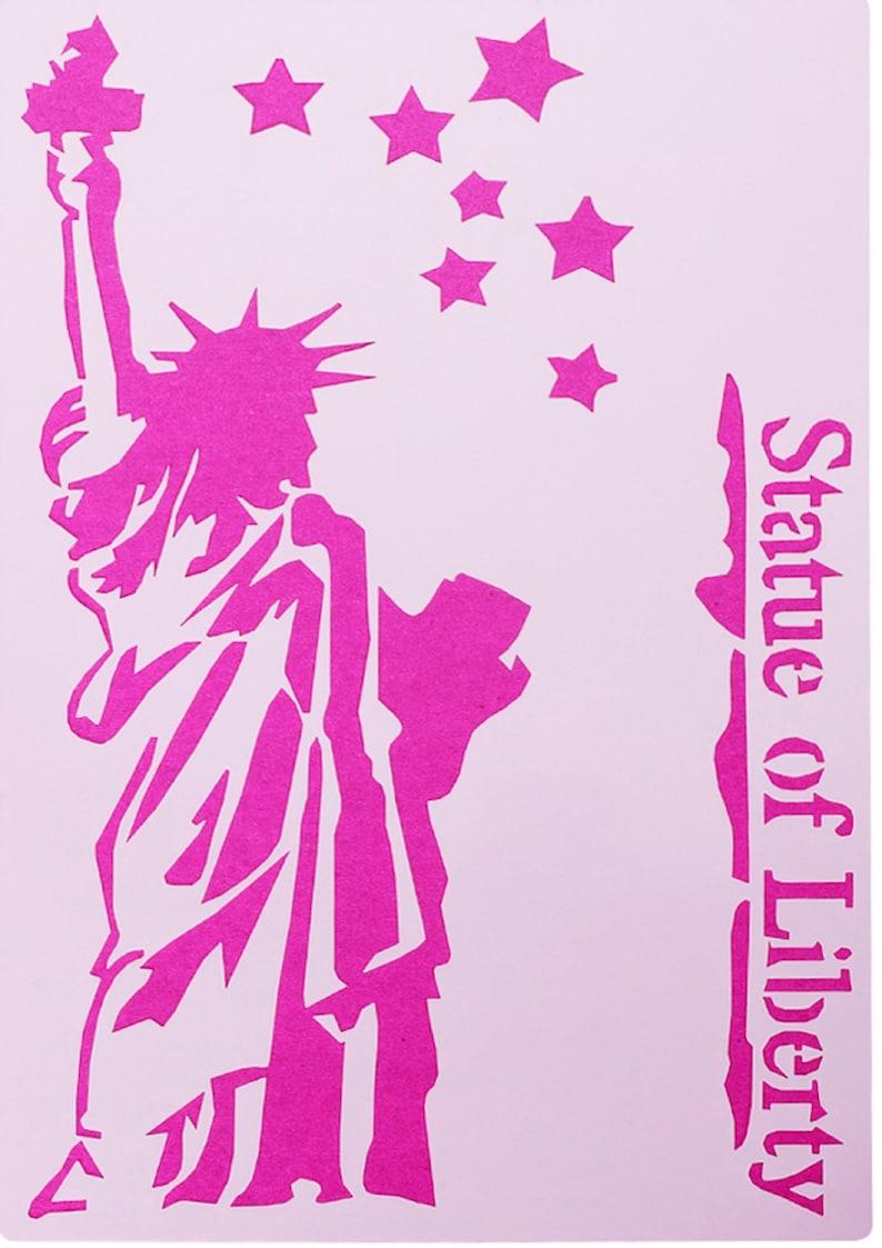 PLASTIC STENCIL 27 18cm statue of liberty