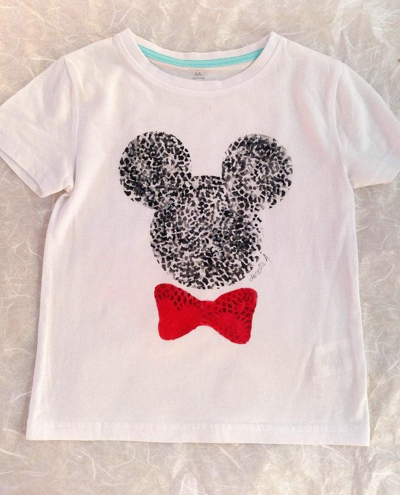 T-shirt bambino con sagoma topolino festa di compleanno  1e4da0939f83