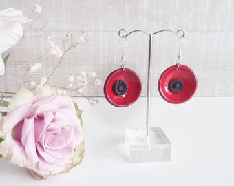 Poppy dish ceramic earrings