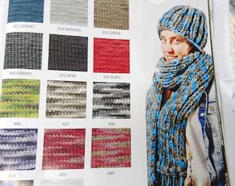 1 ball of bulky yarn of 150 g = 1 Hat
