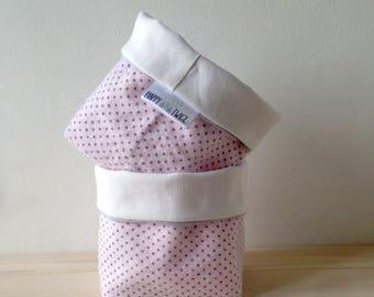 Powder Pink storage baskets