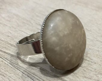 Frosted ring greige xl