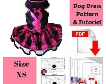 Dog clothes Patterns Dog dress Pattern Dog clothes small dog Pattern Dog clothes Dog dress Small dog clothes Dog clothes Pattern Size XS