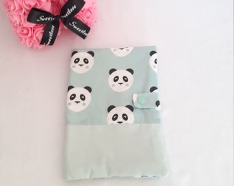 Protects green health book water patterns pandas