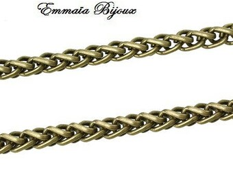 antique metal chain 50 cm bronze 5 mm