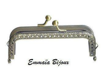 Bronze clasp for purse, handbag 77 x 54 mm