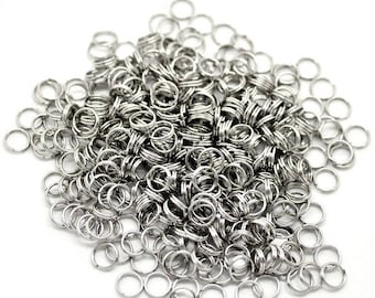 30 stainless steel double rings 7 mm
