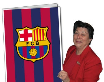 FC Barcelona Giant Greeting Card | Huge Card for Special Occasions |