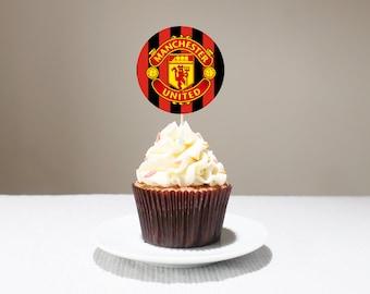 manchester united cake topper etsy manchester united cake topper etsy