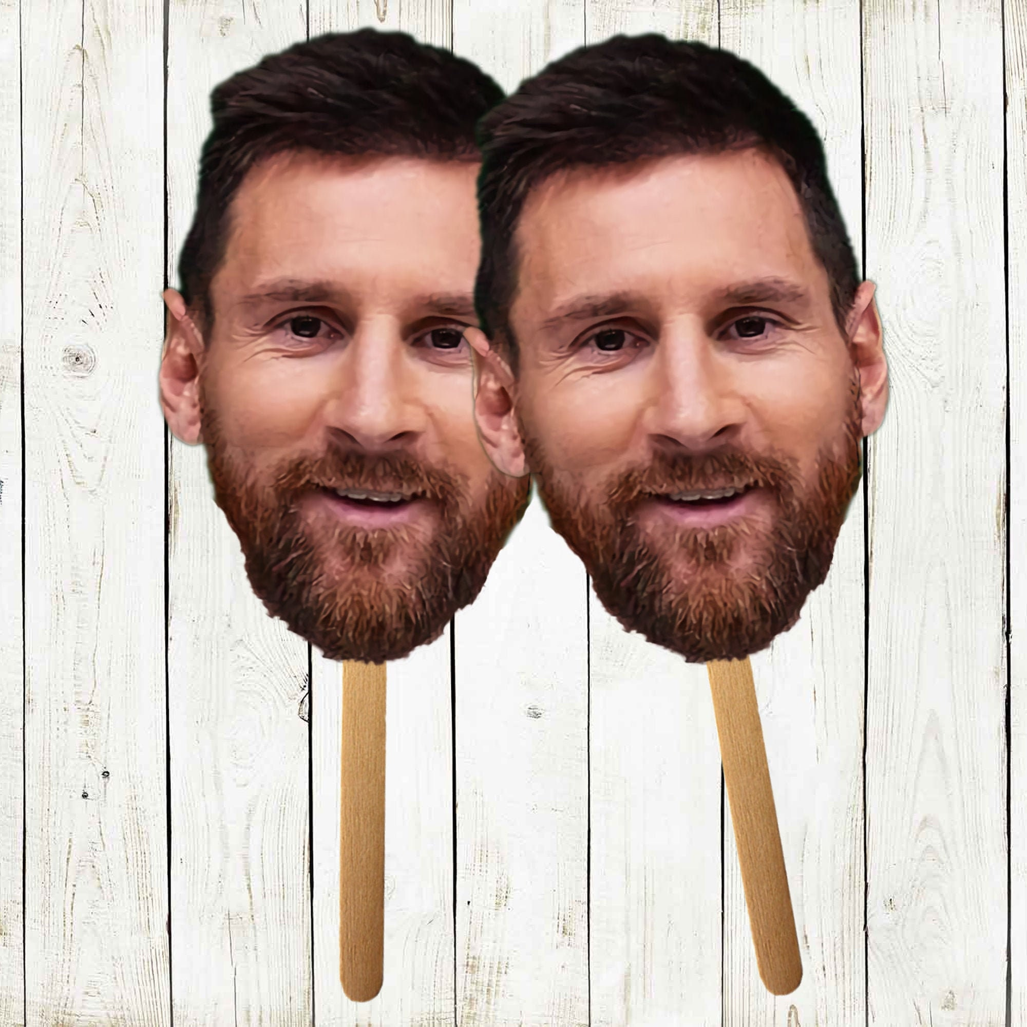 Lionel Messi Face Cutout Cute Cutouts 3 6 12 Pack Etsy