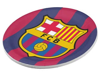 FC Barcelona Paper Plates | Cute Plates for Birthdays | 8 Pack