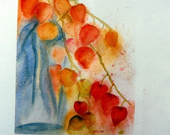 a bouquet of physalis, flowers